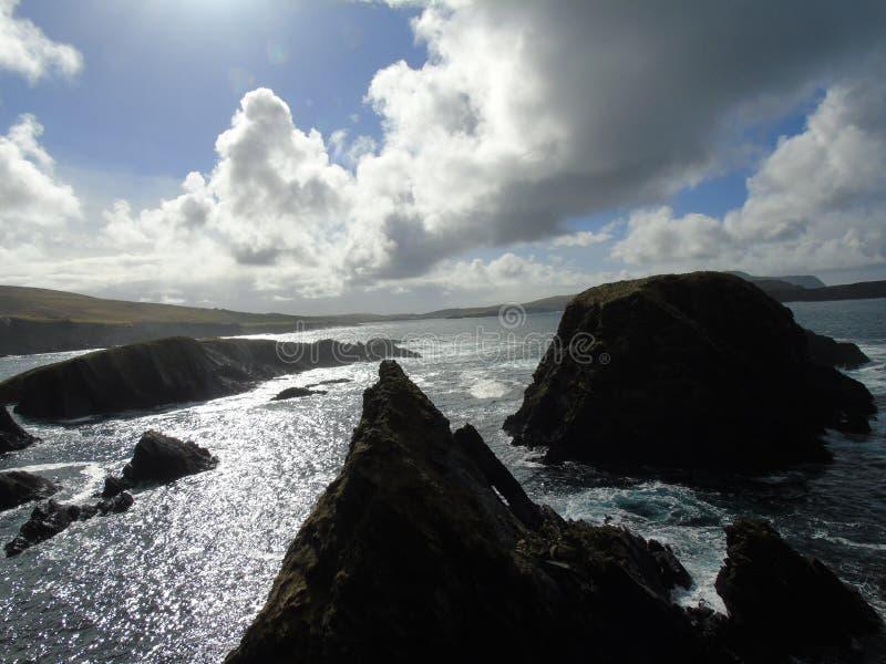 Regard de l'île de St Ninian dans Shetland photo stock