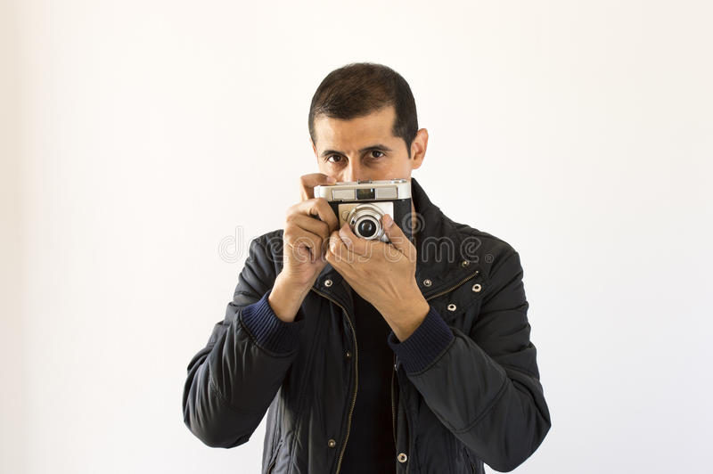 Regard de photographe photo stock