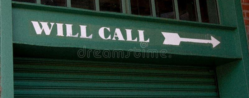 Regard de vintage de marqueur de fenêtre d'appel de volonté chez Fenway Park photos stock