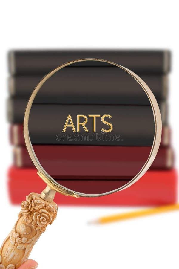 Regard dedans sur l'éducation - arts images libres de droits