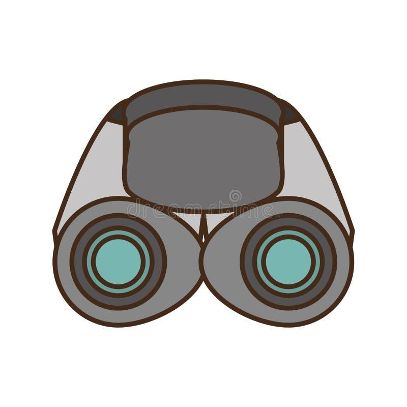 Regard en verre d'explorateur de jumelles illustration libre de droits