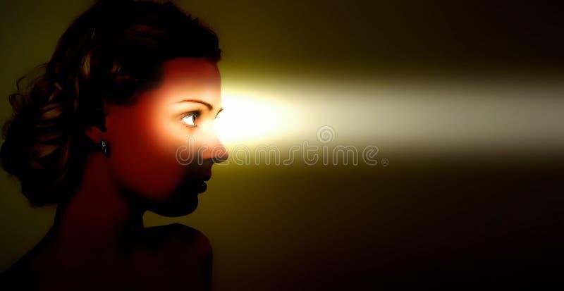 Regard fixe femelle. images libres de droits