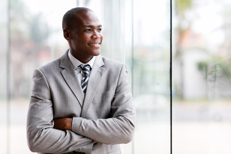 regard noir d'homme d'affaires photographie stock