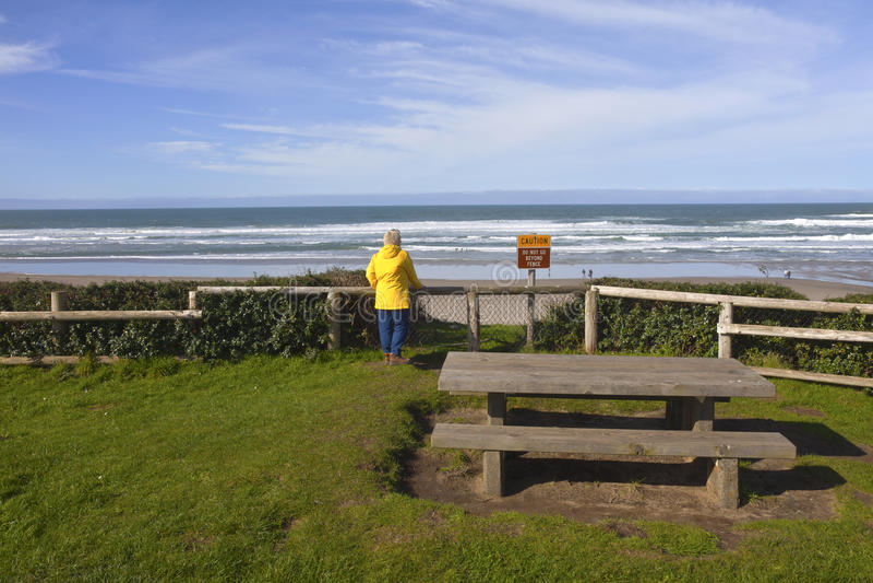 Regard sur la plage sur la côte de l'Orégon photos libres de droits