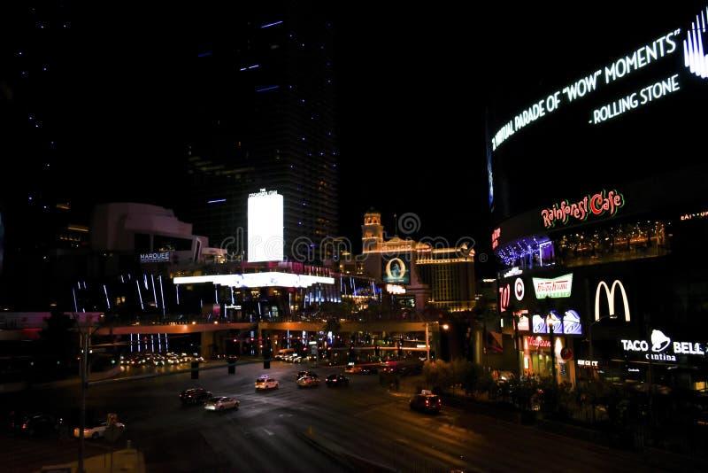 Regard vers le bas de placé sur des rues de Las Vegas photo libre de droits