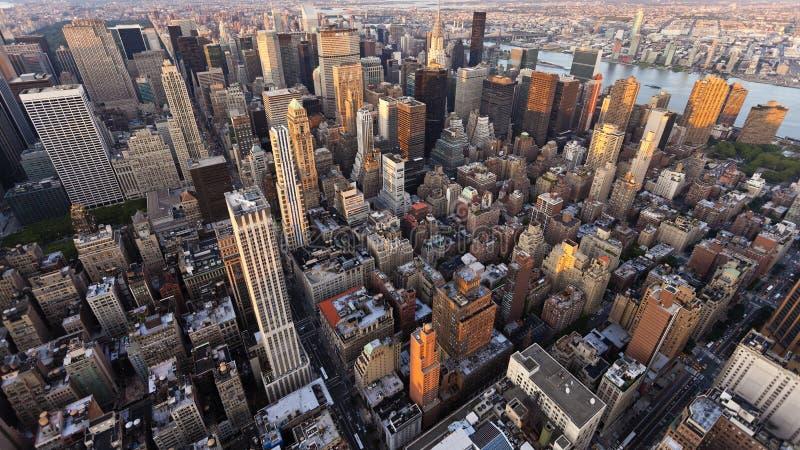 Regard vers le bas sur Manhattan photo libre de droits