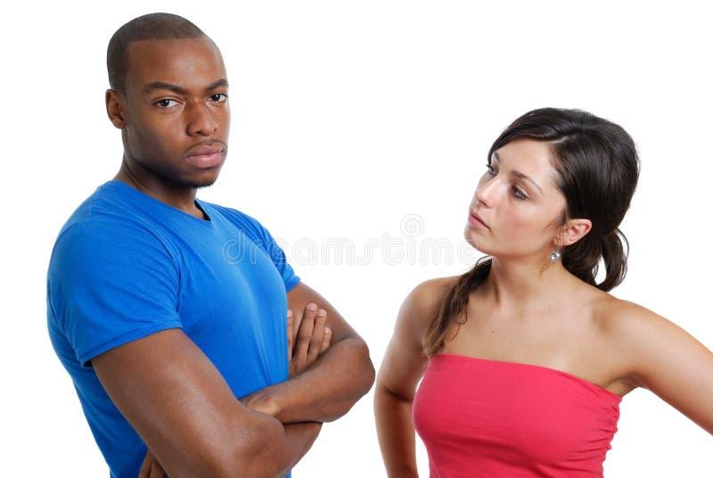 Regarder Fâché De Couples Photos libres de droits