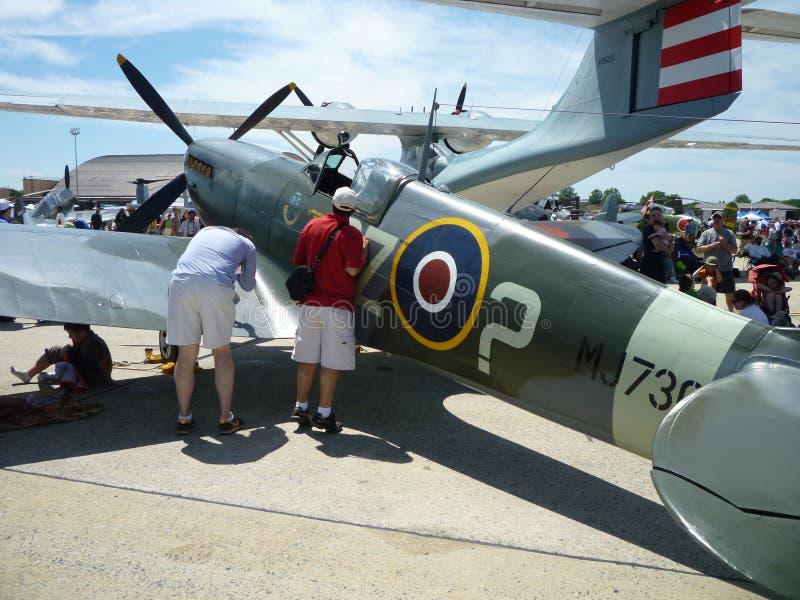 Regarder le Spitfire photo libre de droits