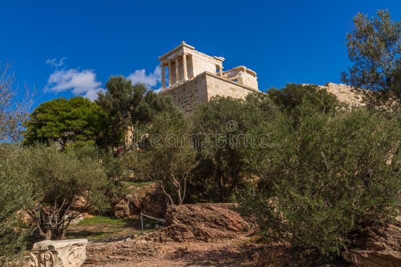 Regarder le temple du nike d'Athéna images stock