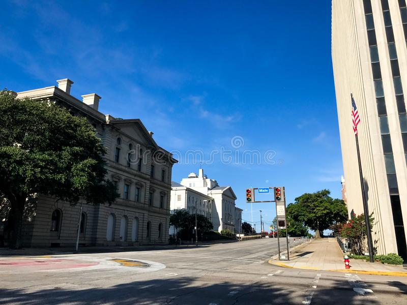 Regarder les structures historiques sur Laurel Street en Colombie du centre, Sc photographie stock