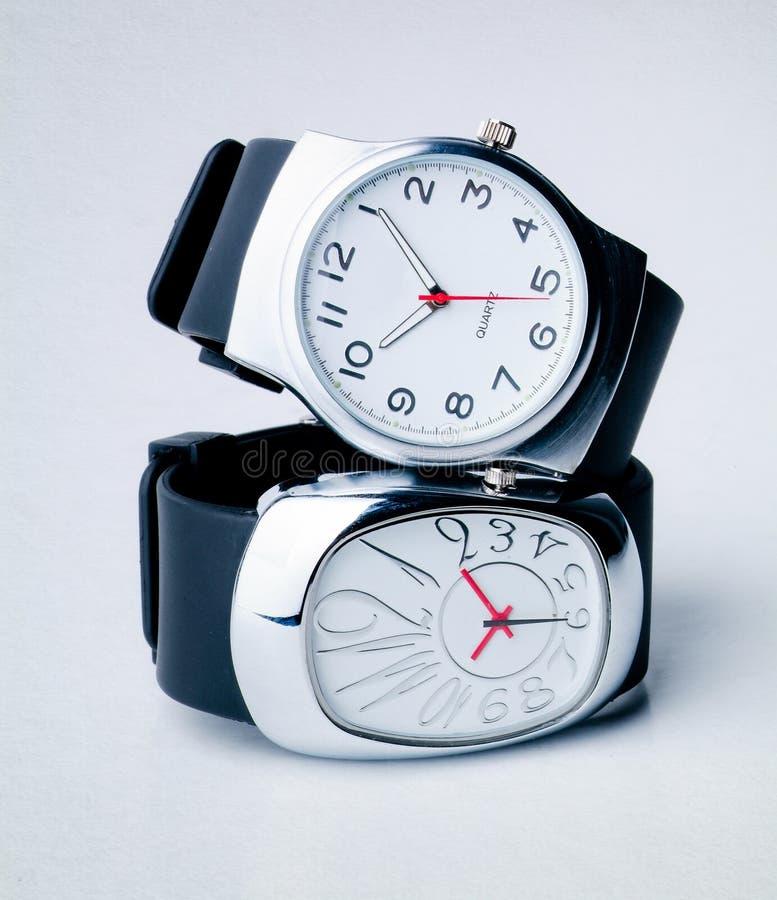 Regarder montre sur le backgtound photographie stock