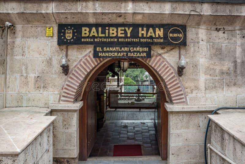 Regardez de Balibey Han ou handcraft le bazar à Brousse, Turquie photo stock