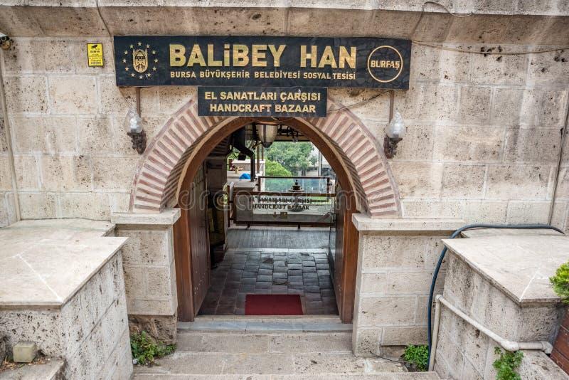 Regardez de Balibey Han ou handcraft le bazar à Brousse, Turquie photographie stock libre de droits