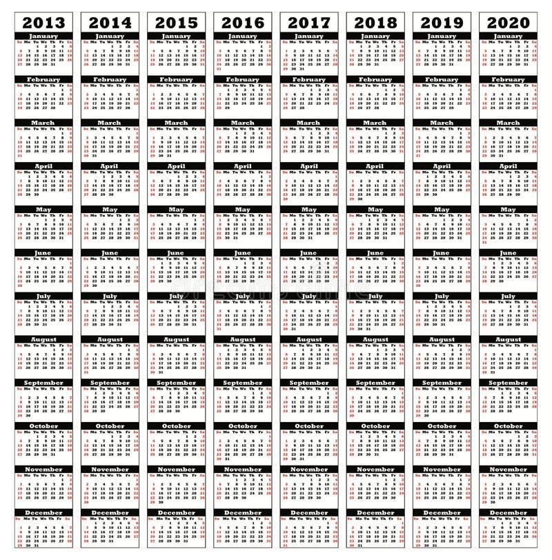 2013-2020 illustration stock