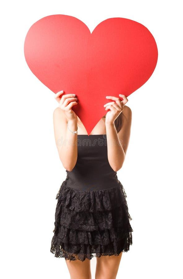 Regardez mon grand coeur? image libre de droits