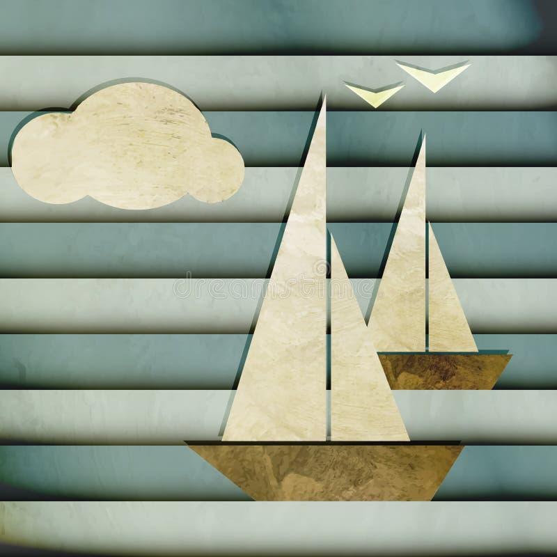 Regata stock illustrationer