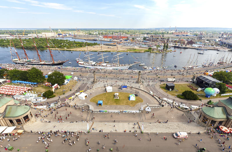 Regata alta 2015 dos navios final em Szczecin foto de stock