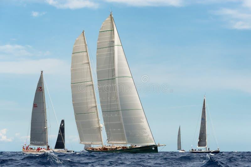 Regata de la vela de Maxi Yacht Rolex Cup foto de archivo libre de regalías