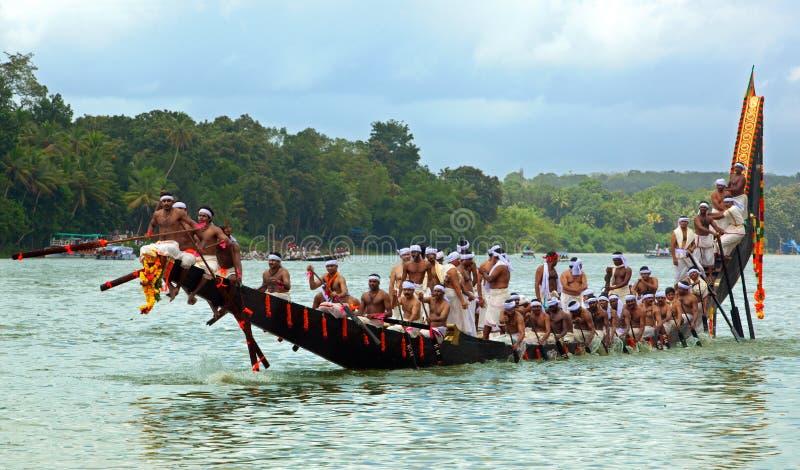 Regatas de la serpiente de Kerala foto de archivo libre de regalías