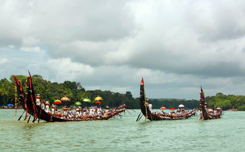 Regatas de la serpiente de Kerala imágenes de archivo libres de regalías