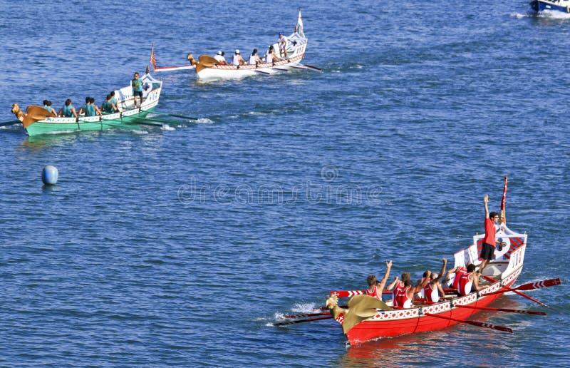 Regatta of the Ancient Maritime Republics 2010. Historical regatta between four old galleons of ancient maritime republics (Venice, Genoa, Pisa and Amalfi) in stock photos