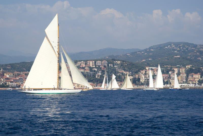 Regatta classique de yacht photographie stock libre de droits