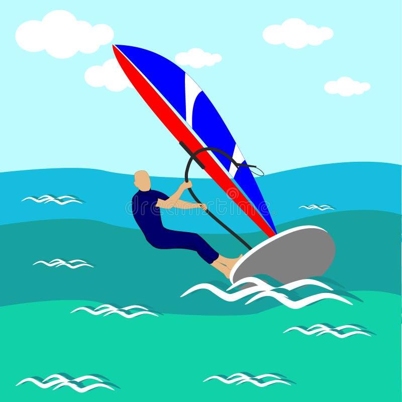 regatta färgrik illustration royaltyfri illustrationer