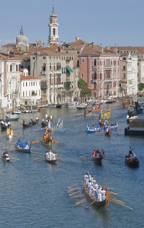 Regatta histórico 2 de Veneza foto de stock