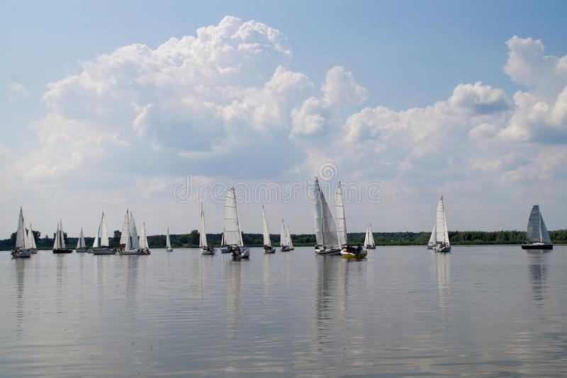 Regatta na Vistula rzece obrazy stock