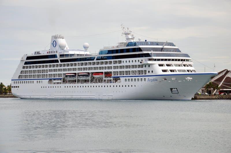 Regatta Oceania Cruises. MS Regatta docked, Oceania Cruises stock image