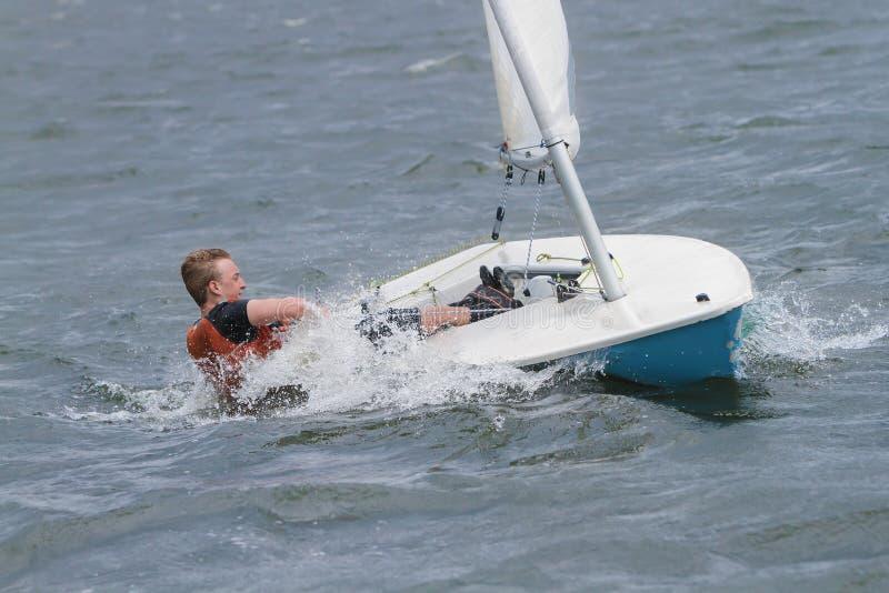 Regatta segling, kappseglare arkivfoto