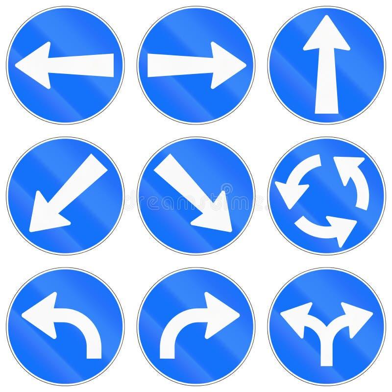 Regelgevende die verkeersteken in Zwitserland worden gebruikt vector illustratie
