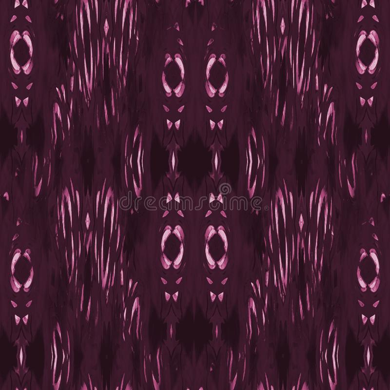 Regelmatig bloemenornamenten roze viooltje en purple verticaal stock illustratie