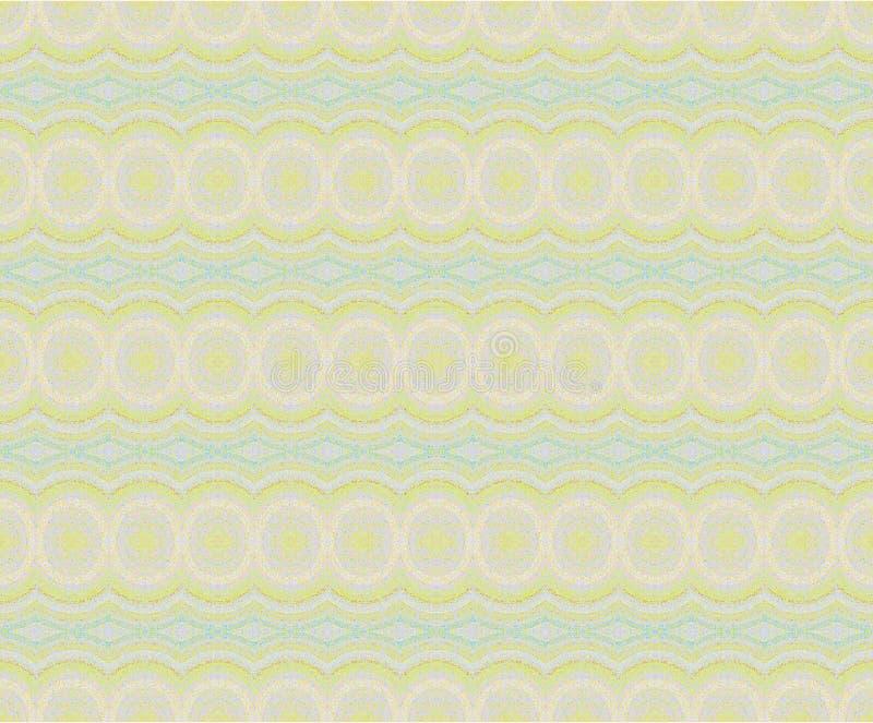 Regelmatig cirkelspatroon in pastelkleur purpere groenachtig blauw horizontaal stock illustratie