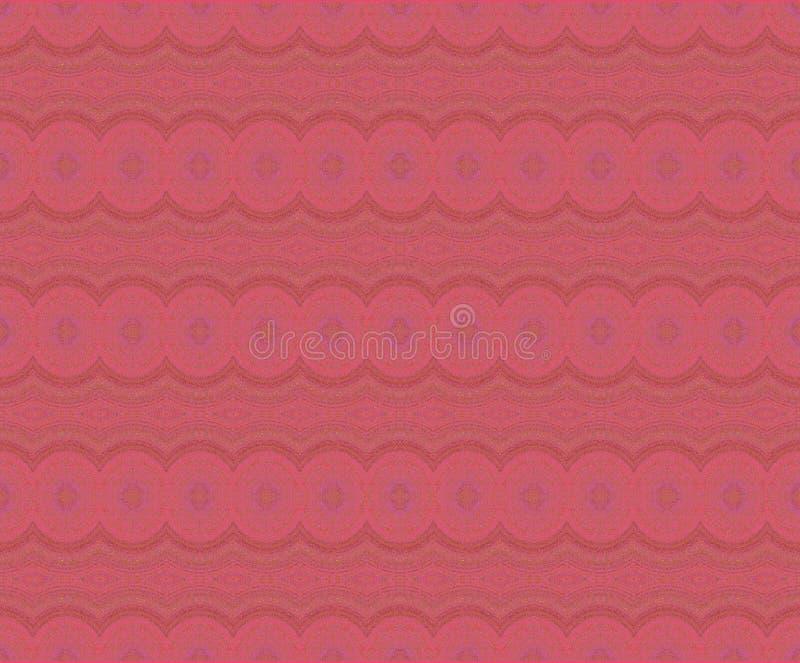Regelmatig cirkelspatroon in rode violette en bruine schaduwen horizontaal vector illustratie