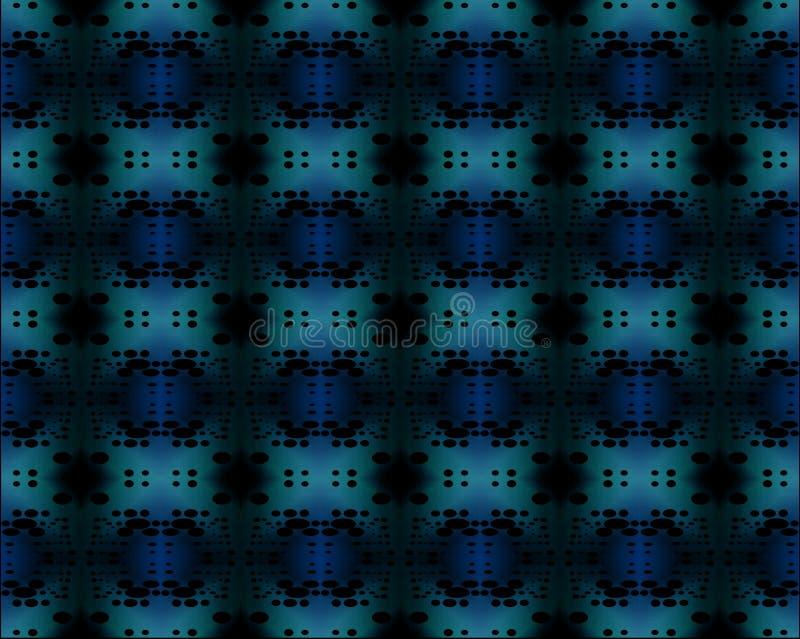 Regelmatig donkerblauw, turkoois en zwart ellipsenpatroon vector illustratie