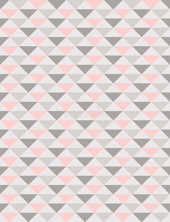 Regelmatig driehoeken naadloos patroon in pastelkleurtonen stock illustratie