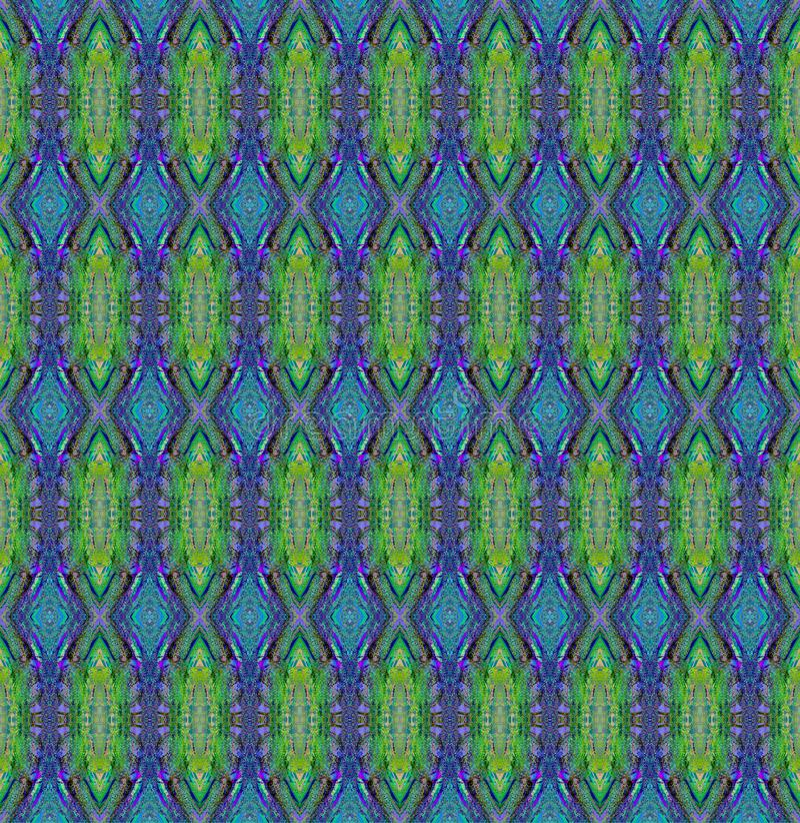 Regelmatig groenachtig blauw en purper diamantpatroon vector illustratie