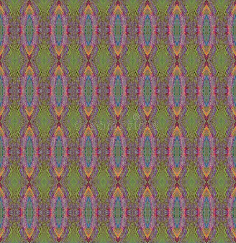 Regelmatig ovaal groen, purper, blauw en oranje patroon vector illustratie