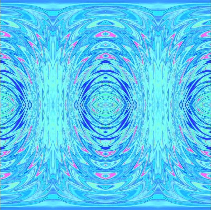 Regelmatig ovaal lichtblauw, turkoois en roze patroon vector illustratie