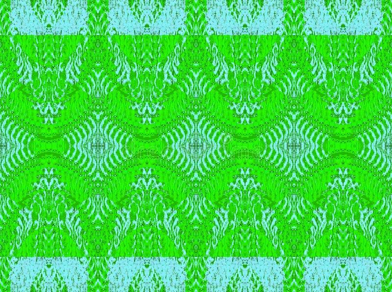 Regelmatig overladen diamantpatroon heldergroen met lichtblauw horizontaal vector illustratie