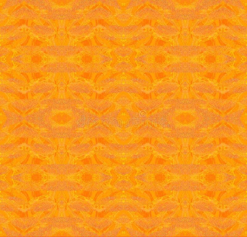 Regelmatig patroon in oranje schaduwen vector illustratie
