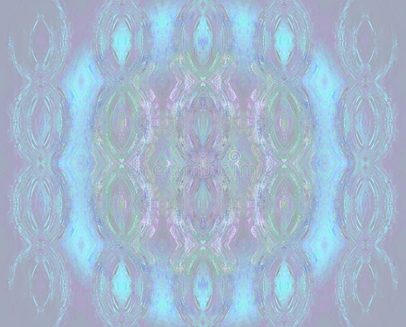 Regelmatig rond ornament lichtblauw purper viooltje en groen royalty-vrije illustratie