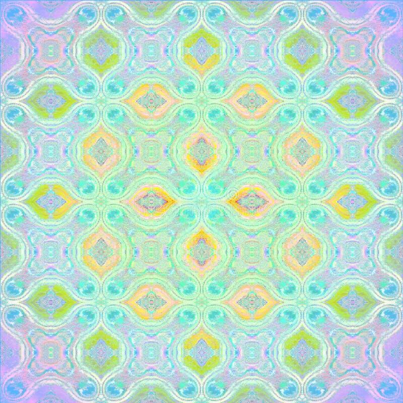 Regelmatig sier multicolored en gecentreerd patroon stock illustratie