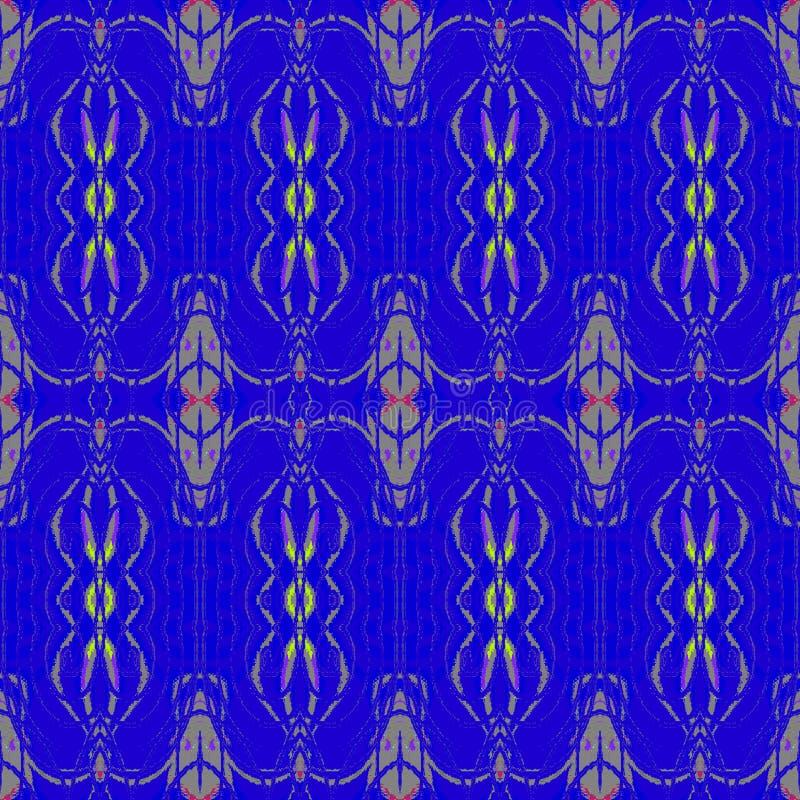 Regelmatig sierpatroon donkerblauw met grijs en purper stock illustratie