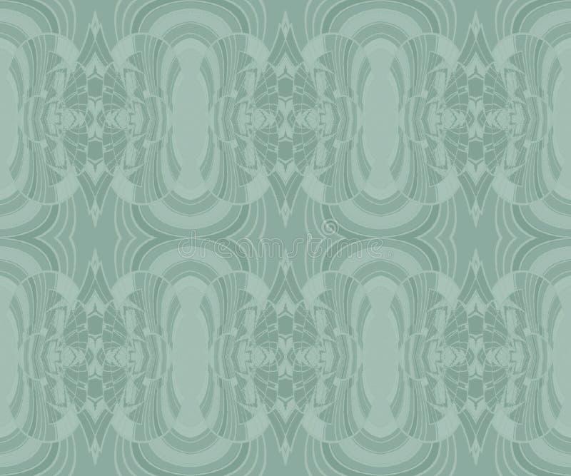 Regelmatig sierpatroon in pastelkleur groene en grijze schaduwen royalty-vrije illustratie