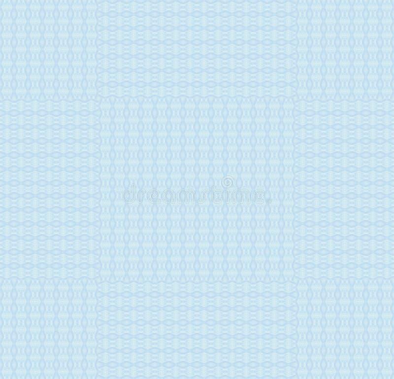 Regelmatig verplaatst de pastelkleurblauw van het ellipsenpatroon stock illustratie