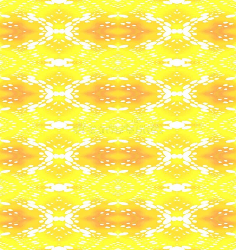 Regelmatig wit ellipsenpatroon met geeloranje en oker stock illustratie