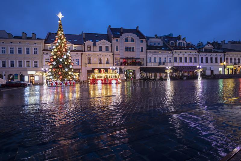 Regelmatige kerst in Rzeszow royalty-vrije stock foto's