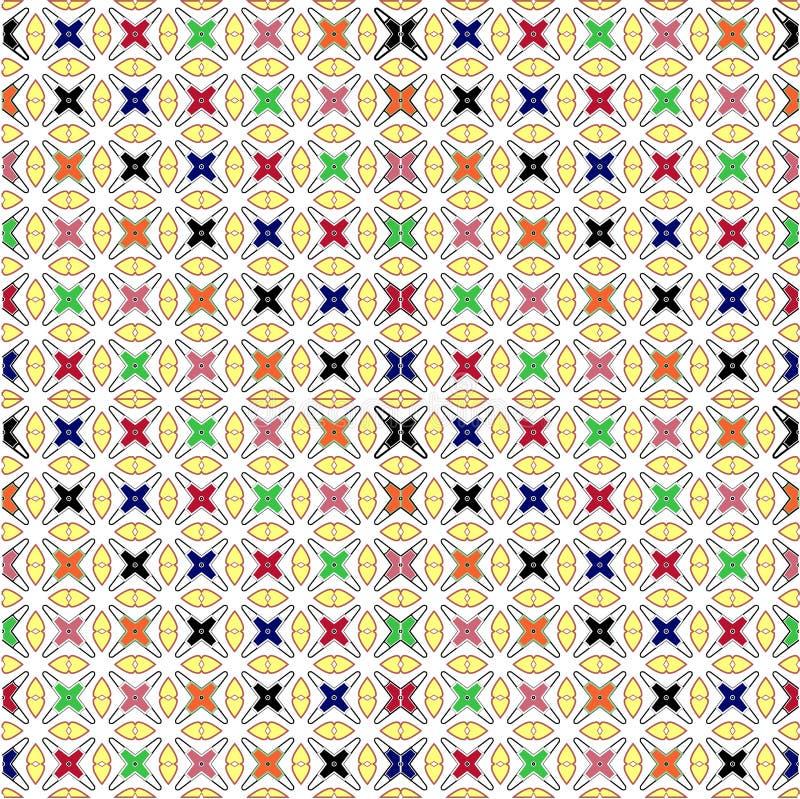 Regelmatige textuur met kleurrijk kruis royalty-vrije illustratie